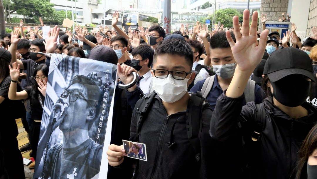 Foto: Activistas protestan en Hong Kong, 9 de octubre de 2019