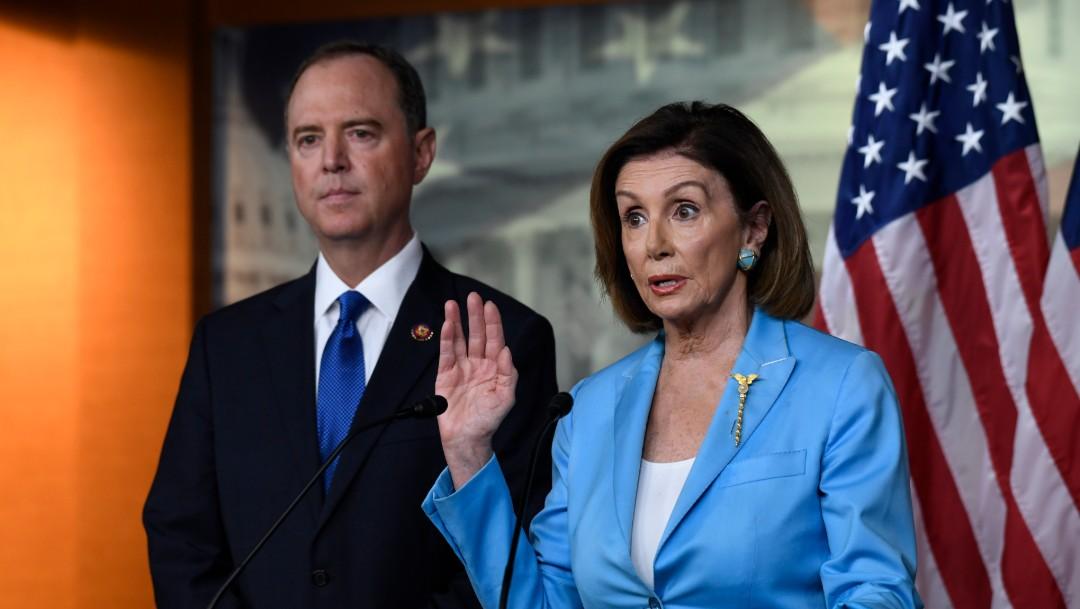 Foto: Adam Schiff y Nancy Pelosi, 2 de octubre de 2019, Estados Unidos