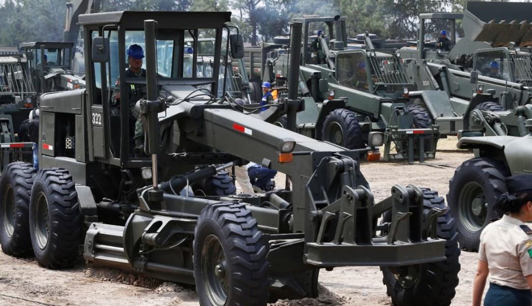 Obras en terreno del Aeropuerto de Santa Lucía