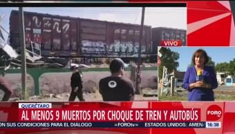 FOTO: Choque entre autobús tren Querétaro, choque tren nueve fallecidos