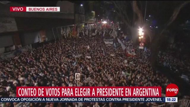 FOTO: Alberto Fernández aventaja en las elecciones presidenciales de Argentina, 27 octubre 2019