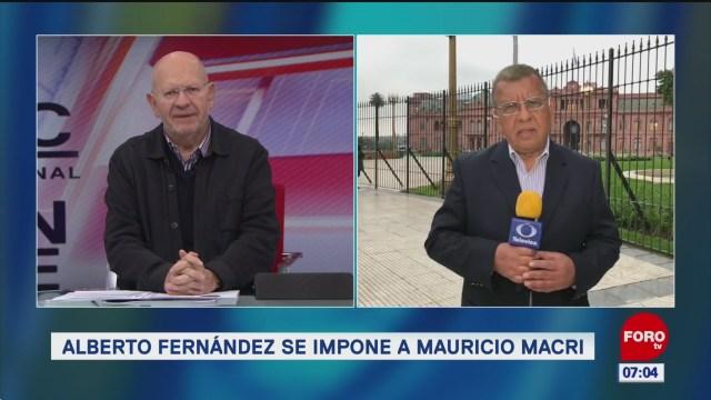 Alberto Fernández se impone a Mauricio Macri