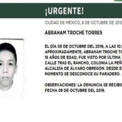 Alerta Amber: Ayuda a localizar a Abraham Troche Torres