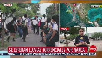 Alerta en 12 municipios del sur de Sonora por 'Narda'