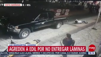 FOTO: Amarran Alcalde Chiapas Camioneta Arrastran Por Varias Cuadras