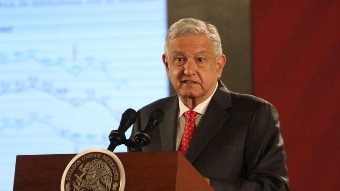 Foto: El presidente de México, Andrés Manuel López Obrador, durante la conferencia matutina en Palacio Nacional el miércoles 23 de octubre de 2019. (Foto: Victoria Valtierra /Cuartoscuro.com)