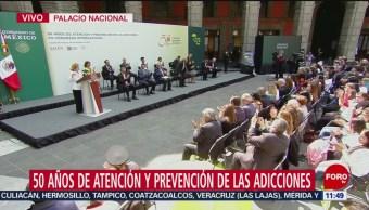 AMLO inaugura 50 años de Atención y Prevención de las Adicciones