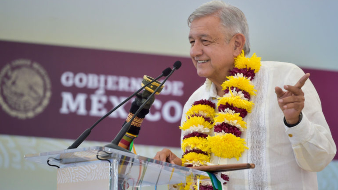 Foto: El presidente de México , Andrés Manuel López Obrador, en Nochixtlán, Oaxaca, 20 octubre 2019