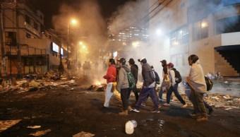 Foto: Las protestas continúan en Quito, 12 de octubre de 2019, (AP)