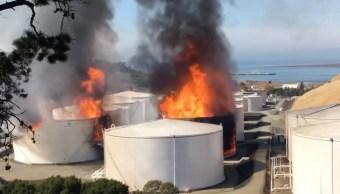 explosion refineria california