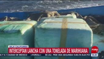 FOTO: Aseguran una lancha con marihuana Baja California