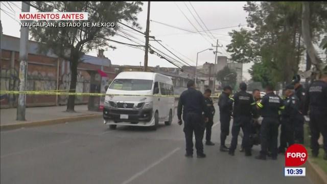 Asesinan a balazos a chofer de transporte público en Naucalpan, Edomex