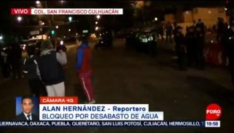 Foto: Bloqueo en San Francisco Culhuacán, CDMX 23 Octubre 2019