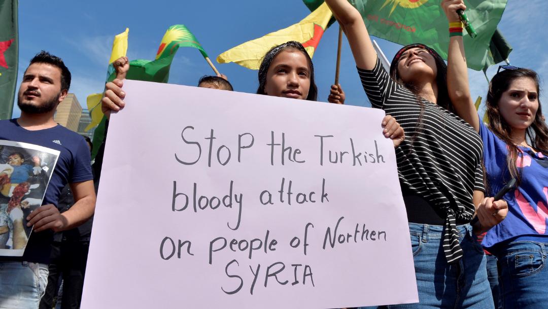 FOTO Bombardeos de Turquía en Siria destruyen infraestructura vital (EFE)