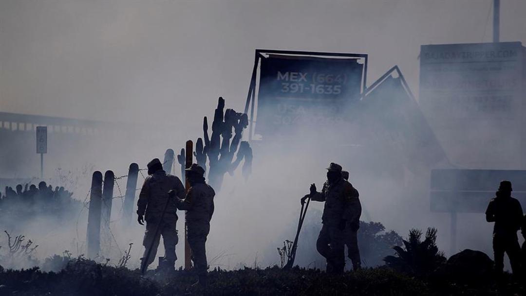 Fotos: Se produjeron incendios importantes en Baja California, México, particularmente en la región de Tecate, 26 de octubre de 2019 (EFE)