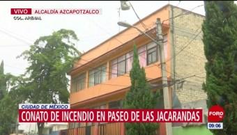 Bomberos controlan conato de incendio en la colonia Arenal, en CDMX