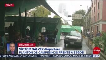 FOTO: Campesinos protestan Cámara Diputados Segob