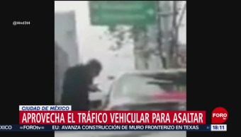FOTO: Video asalto medio tráfico CDMX