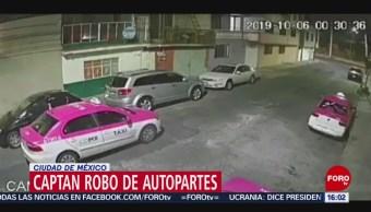 Video Robo Autopartes Ciudad México