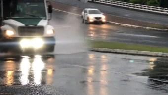 Foto: Las lluvias complican la circulación, 26 de octubre de 2019, (Noticieros Televisa)