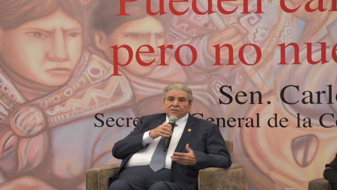 FOTO: Carlos Aceves del Olmo, líder de la CTM