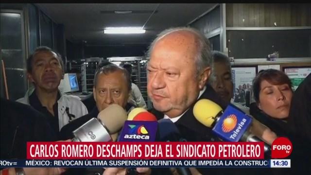 FOTO: Carlos Romero Deschamps Presenta Renuncia Como Líder Petrolero,