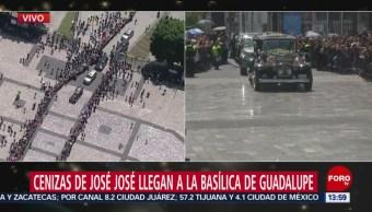 FOTO: Cenizas José José llegan Basílica Guadalupe,