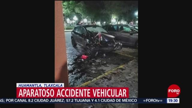 Foto: Choca Vehículo Arrancones Huamantla Tlaxcala 22 Octubre 2019