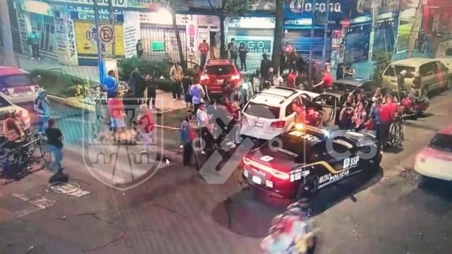 Madrugada de choques en la Ciudad de México