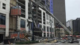 Foto: Se trata de la construcción del hotel que tenía previsto abrir en la primavera del 2020 con más de 300 habitaciones, 12 de octubre de 2019 (Twitter NOLAFireDept)