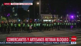 Foto: Reforma Comerciantes Artesanos Retiran Bloqueo 23 Octubre 2019