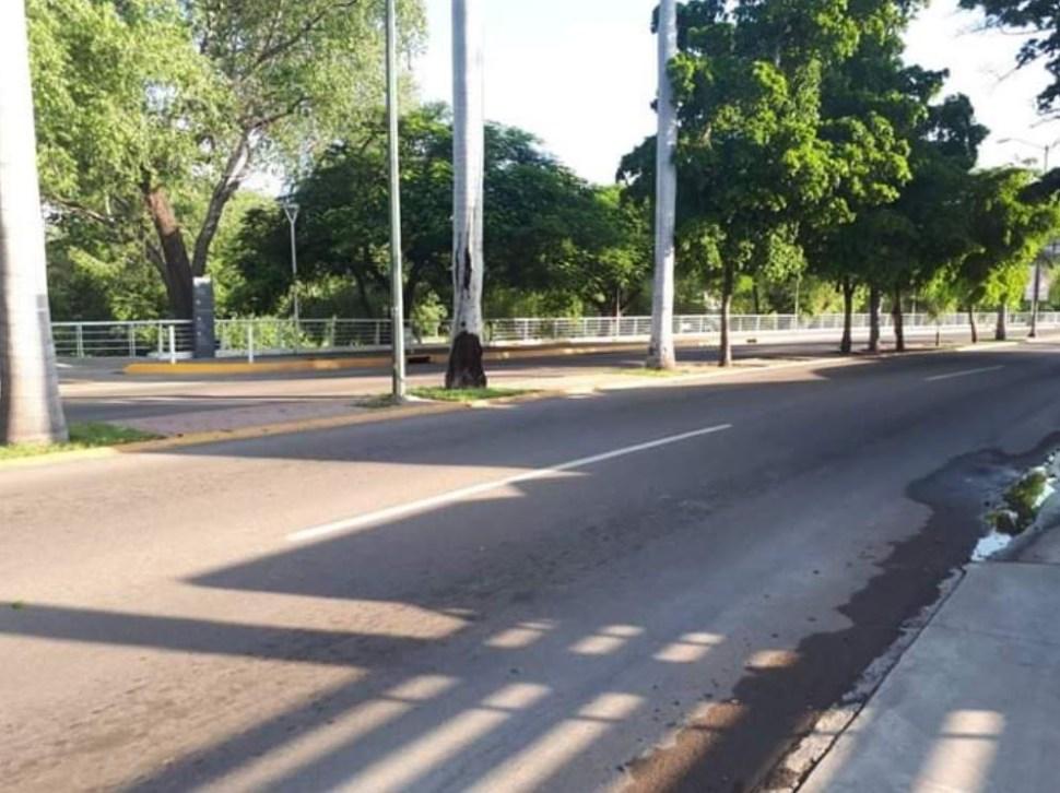 Foto Como zona de guerra, Culiacán amanece con calles vacías