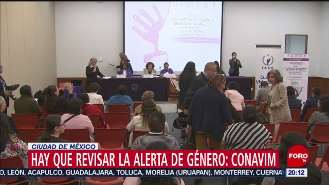 Foto: Conavim Analiza Alerta Género Cdmx 16 Octubre 2019