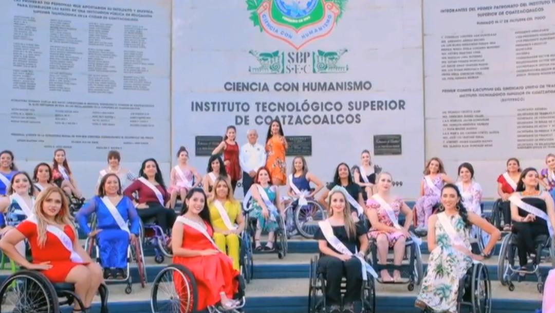 Foto: Mujer chiapaneca gana el certamen 'Señorita Silla de Ruedas', 21 de octubre de 2019, México