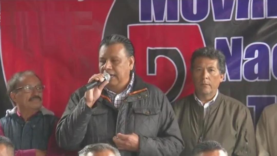 Foto: Integrantes del Movimiento Nacional Taxista ofrece una conferencia de prensa, 17 octubre 2019