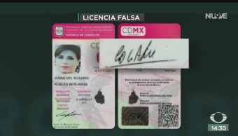 FOTO: Confirman Que Licencia Rosario Robles Fue Falsificada