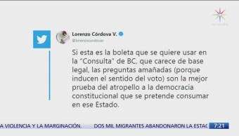 Consulta sobre Ley Bonilla no tiene base legal: Lorenzo Córdova