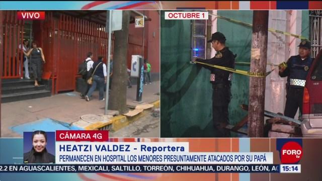FOTO: Continúan Hospitalizados Niños Atacados Por Su Padre CDMX
