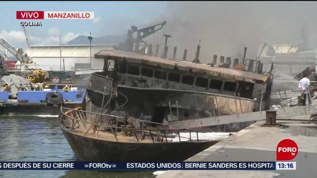 FOTO: Controlan Incendio Buque Atunero Colima