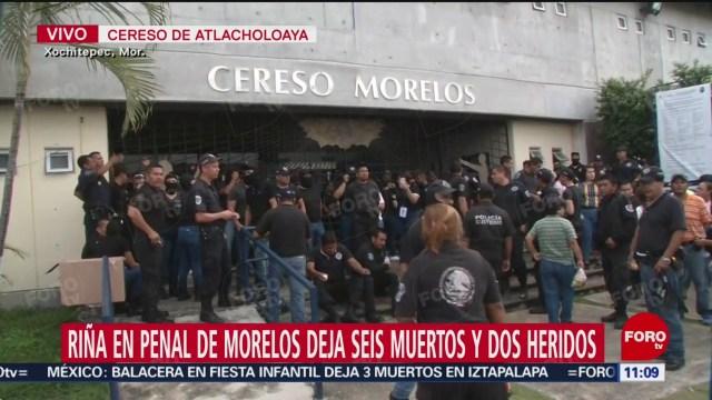 Custodios protestan en puerta del penal de Morelos
