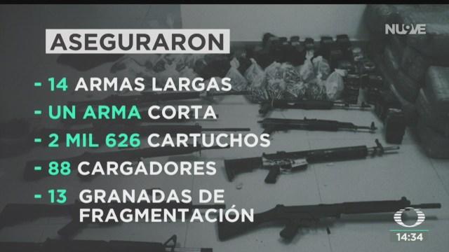 FOTO: Dan seis años de prisión a detenidos con arsenal en Jalisco, 25 octubre 2019