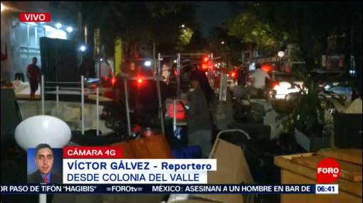 Desalojan edificio con 17 departamentos en la Del Valle, CDMX