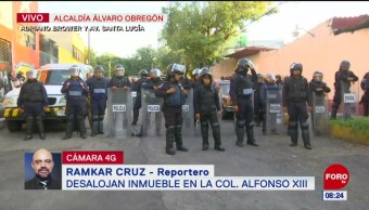 Desalojan inmueble en la colonia Alfonso XIII, Ciudad de México