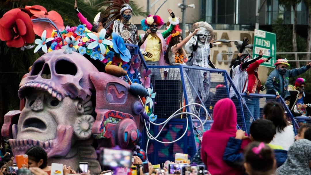 Foto: Desfile del Día de Muertos en la Ciudad de México, 26 octubre 2019
