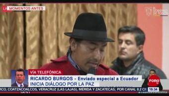 FOTO: Detalles del diálogo entre el presidente Lenín Moreno e indígenas, 13 octubre 2019