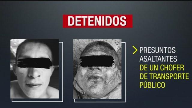 Foto: Los dos delincuentes traían una navaja y un desarmador con lo que sometieron al chofer de transporte público, 27 de octubre de 2019 (Noticieros Televisa)