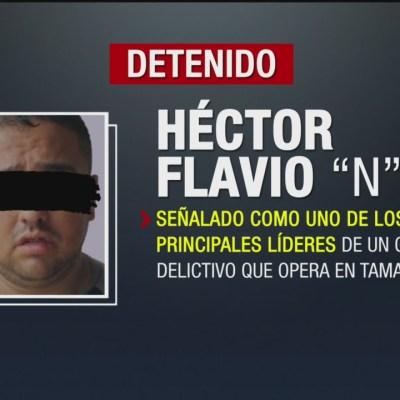 Detienen a líder delictivo en Tamaulipas