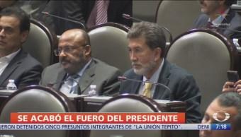 Diputados discutirán reforma sobre eliminar fuero al presidente