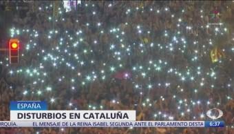 Disturbios en Cataluña dejan al menos 50 heridos