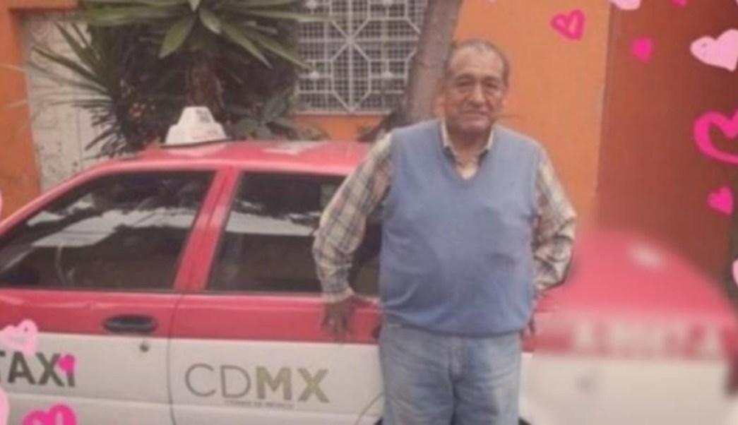 Foto: Don Javier y su taxi. 10 Octubre 2019